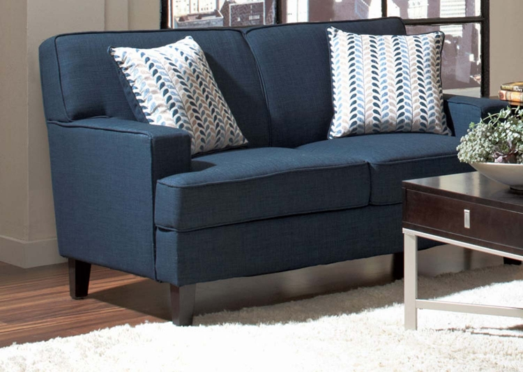 Finley Love Seat - Blue - Coaster