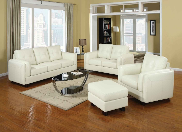 Sawyer Living Room Set - Cream - Coaster