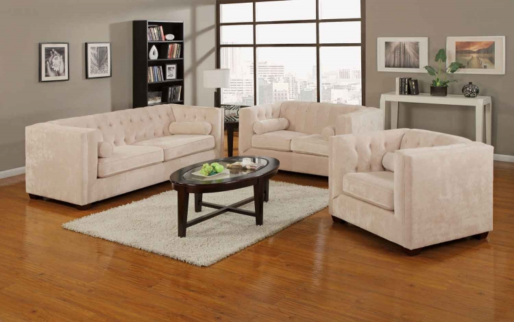 Alexis Living Room Set - Almond