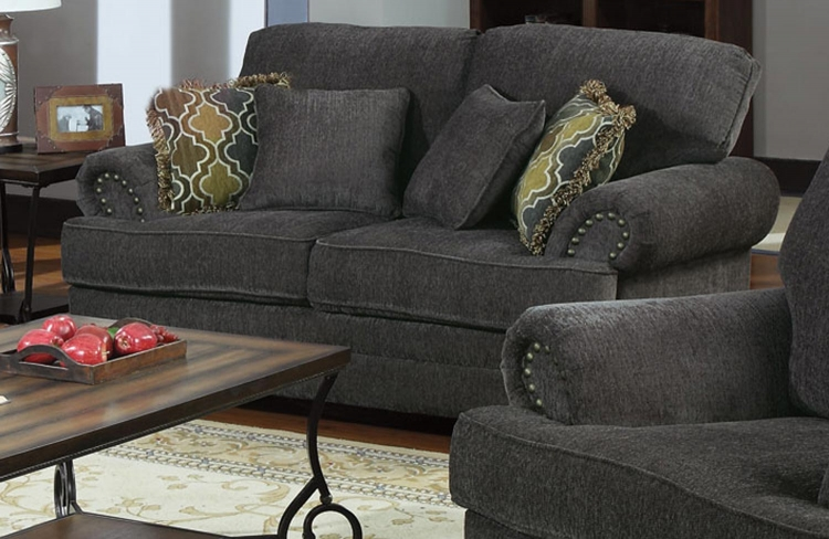 Colton Love Seat - Smokey Grey - Coaster