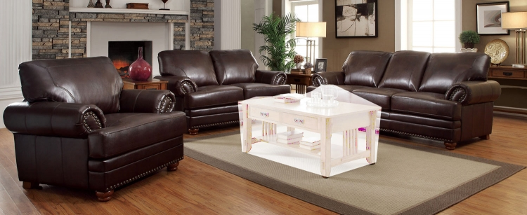 Colton Sofa Set - Brown