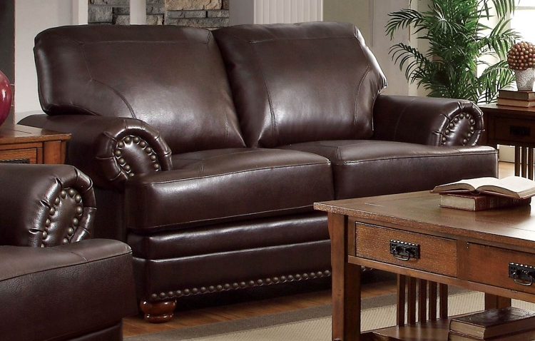 Colton Love Seat - Brown