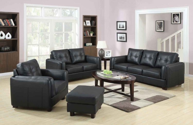 Sawyer Living Room Set - Black - Coaster