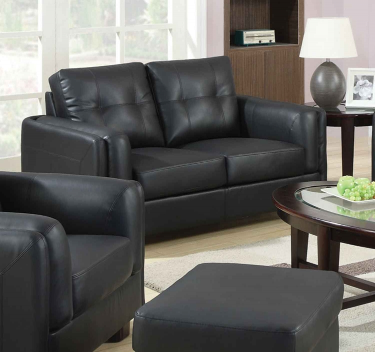 Sawyer Love Seat - Black - Coaster