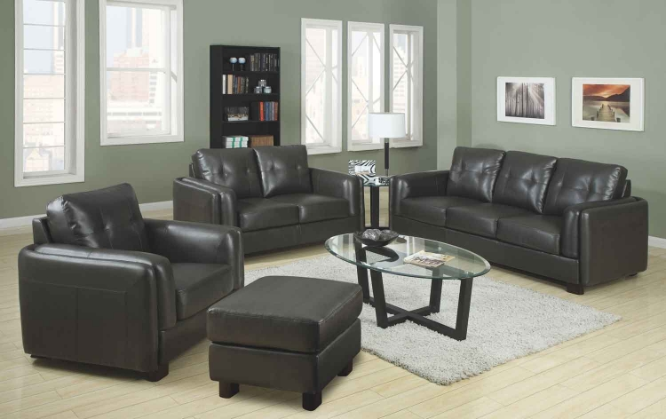 Sawyer Living Room Set - Charcoal - Coaster