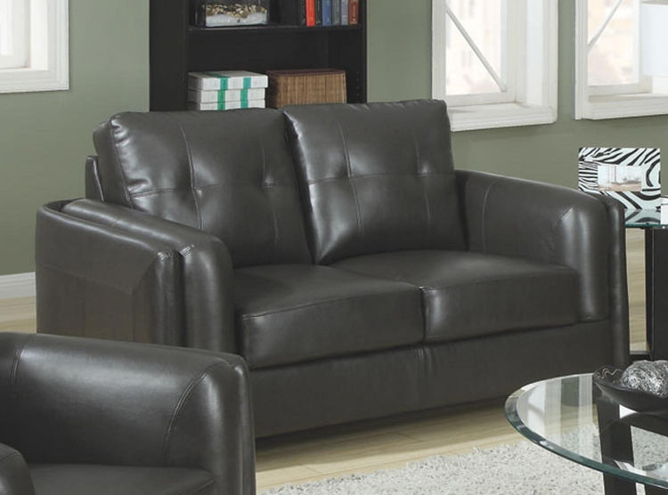 Sawyer Love Seat - Charcoal - Coaster