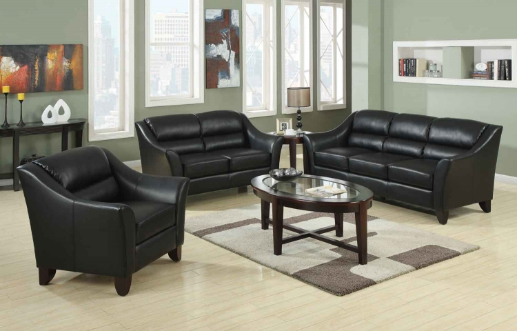 Brooklyn Living Room Set - Black