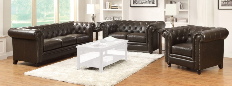Roy Sofa Set - Brown