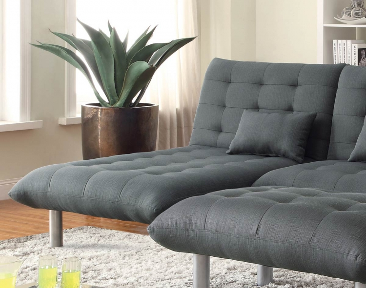 Clyde Chaise - Charcoal grey