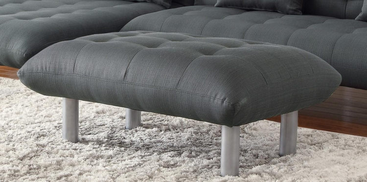 Clyde Ottoman - Charcoal grey