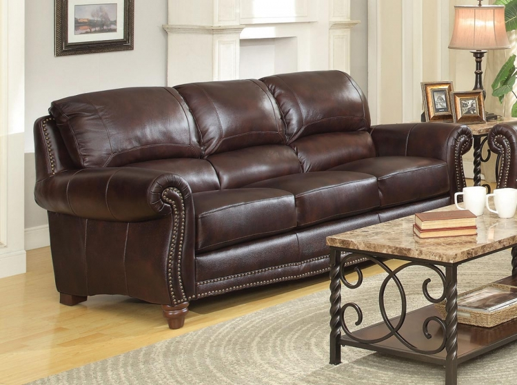 Lockhart Sofa - Burgundy Brown