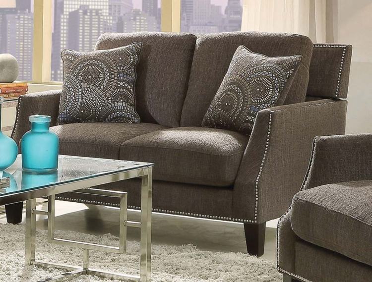 Hardin Love Seat - Graphite/Black