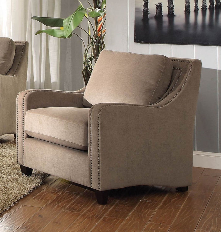 Torres Chair - Taupe/Brown