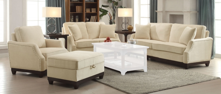 Acklin Sofa Set - Beige