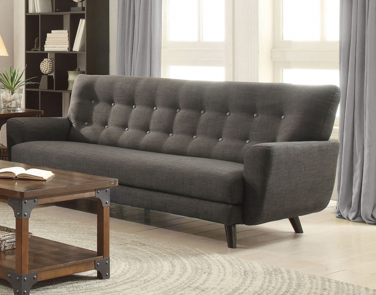 Maguire Sofa - Charcoal/Dark Brown