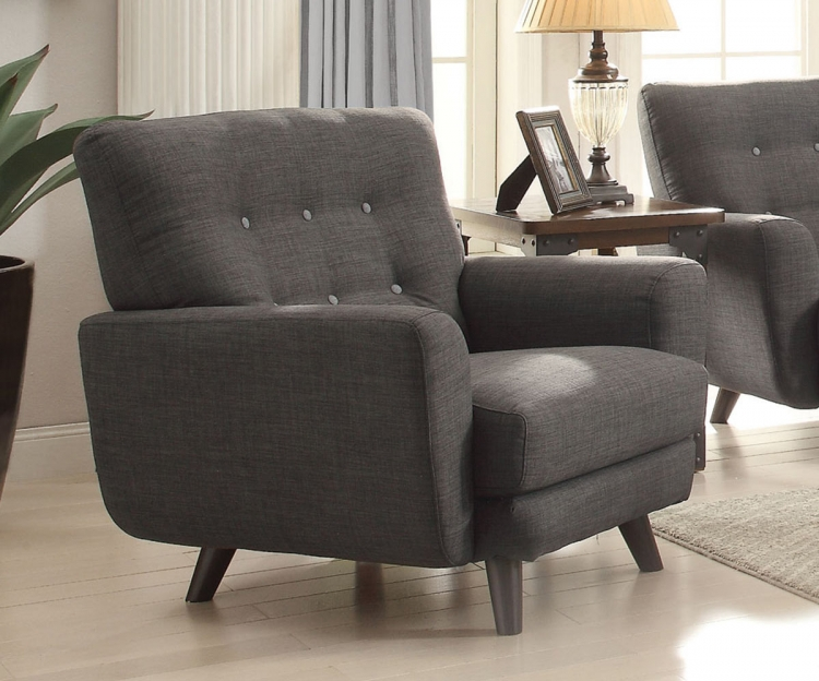 Maguire Chair - Charcoal/Dark Brown