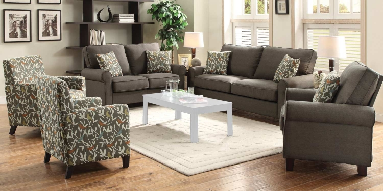 Noella Sofa Set- Grey