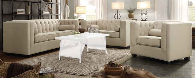 Cairns Sofa Set - Oatmeal