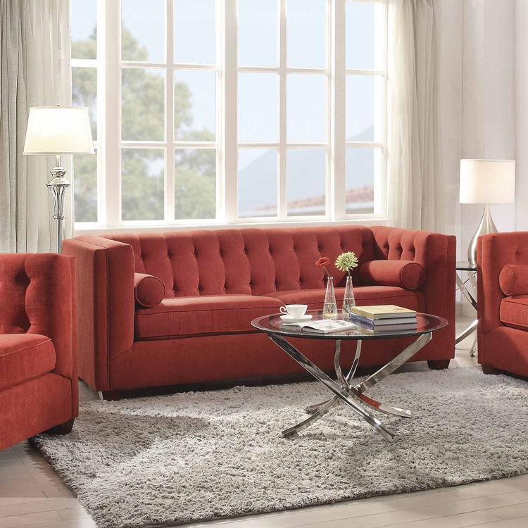 Cairns Sofa - Crimson