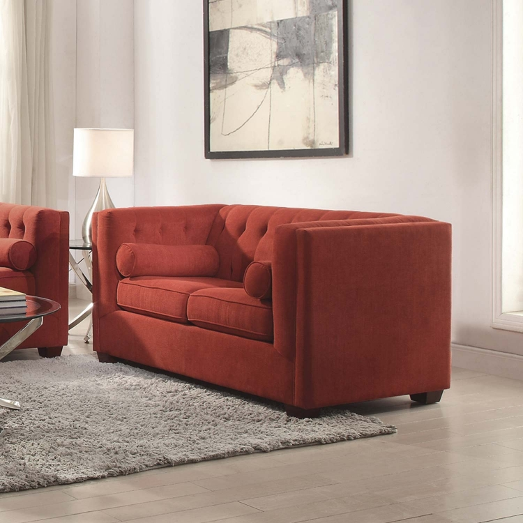 Cairns Love Seat - Crimson