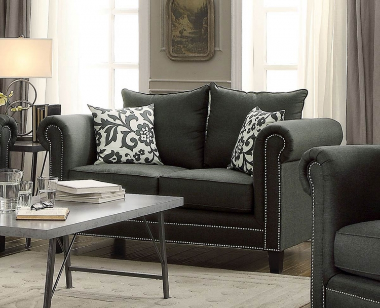 Emerson Love Seat - Charcoal