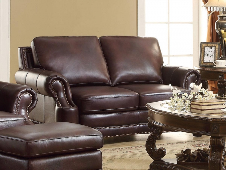 Crawford Love Seat - 2 Tone Brown