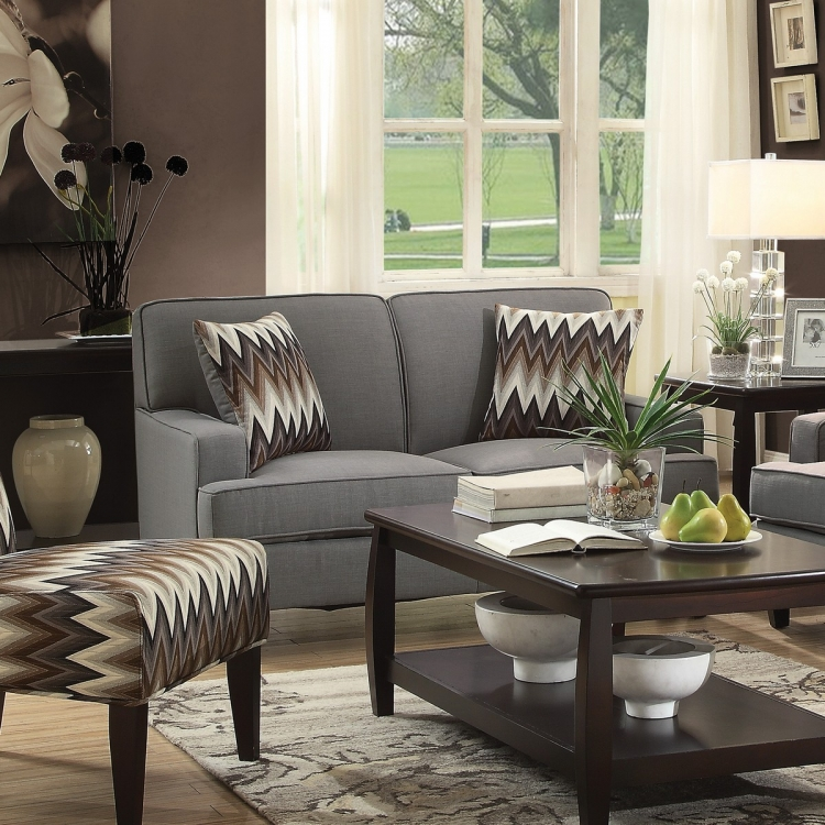 Finley Love Seat - Cement