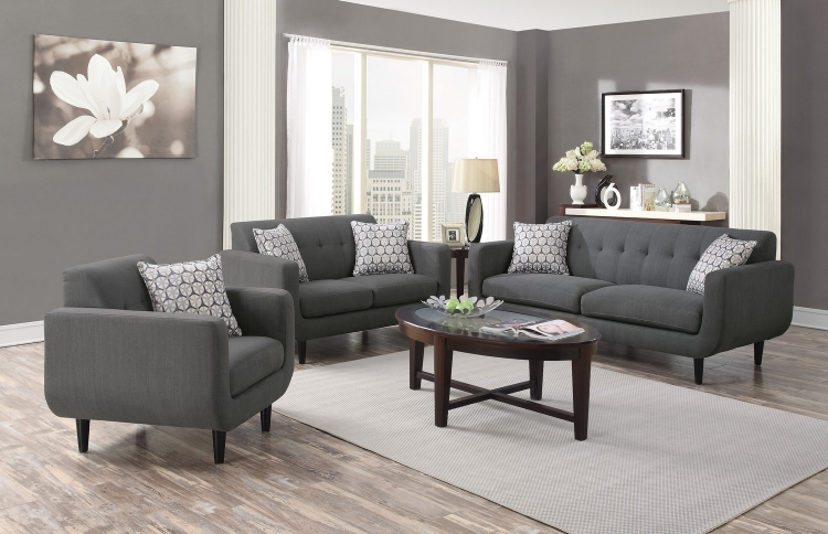 Stansall Sofa Set - Grey