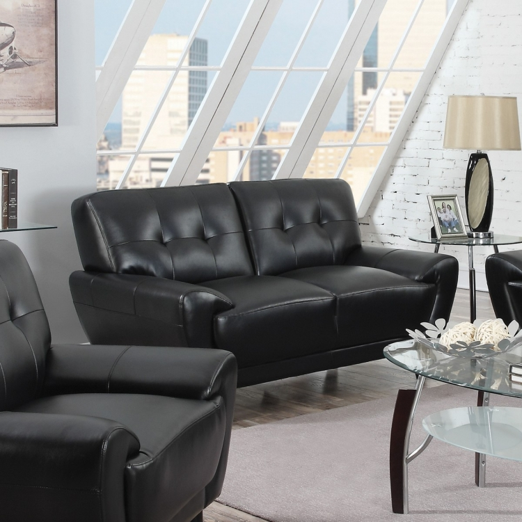 Leskow Love Seat - Black