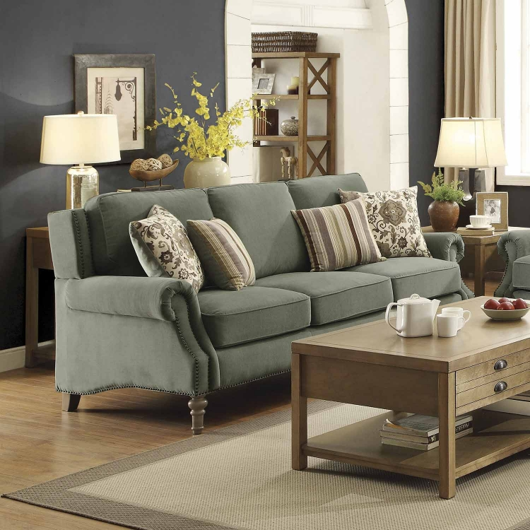 Rosenberg Sofa - Light Sage