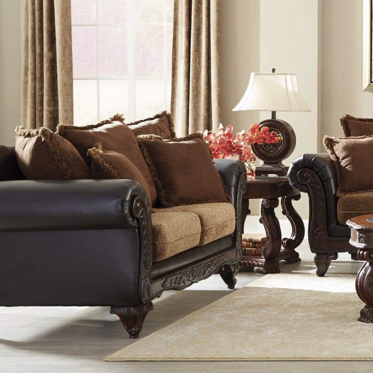 Garroway Love Seat - Russet/Chocolate