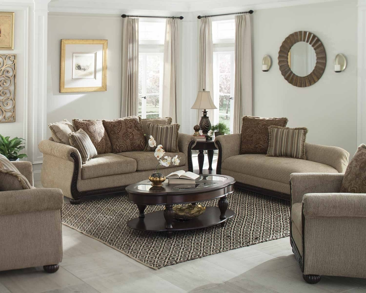 Beasley Sofa Set - Brown