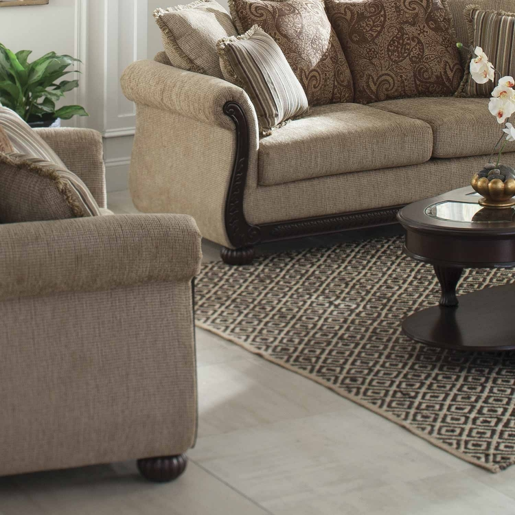 Beasley Love Seat - Brown