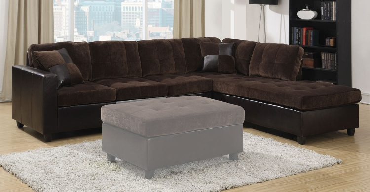 Mallory Sectional Sofa - Chocolate