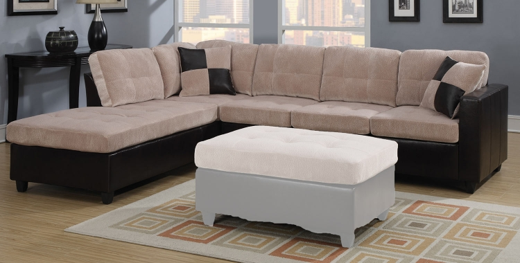 Mallory Sectional Sofa - Cream