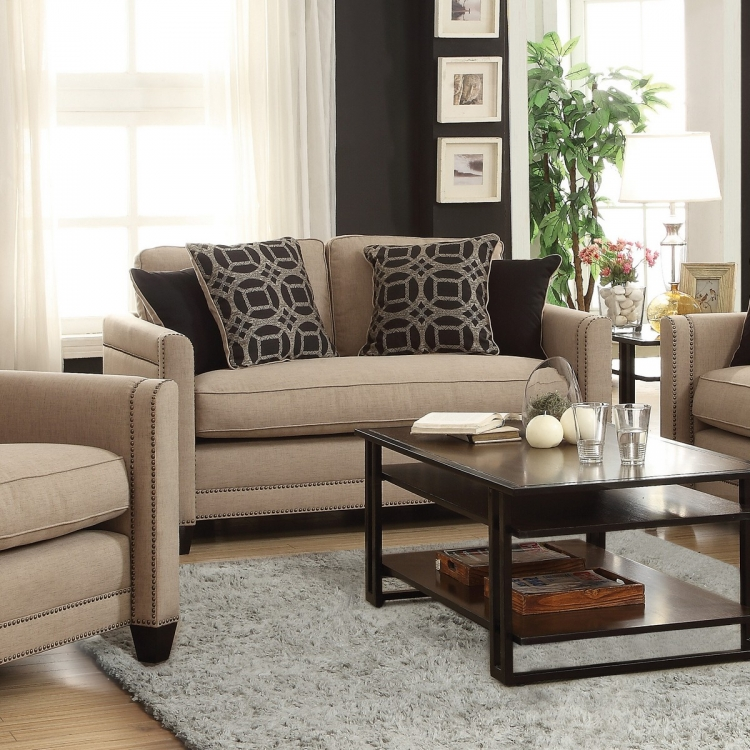 Pratten Love Seat - Wheat