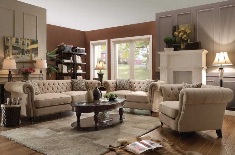 Trivellato Sofa Set - Oatmeal