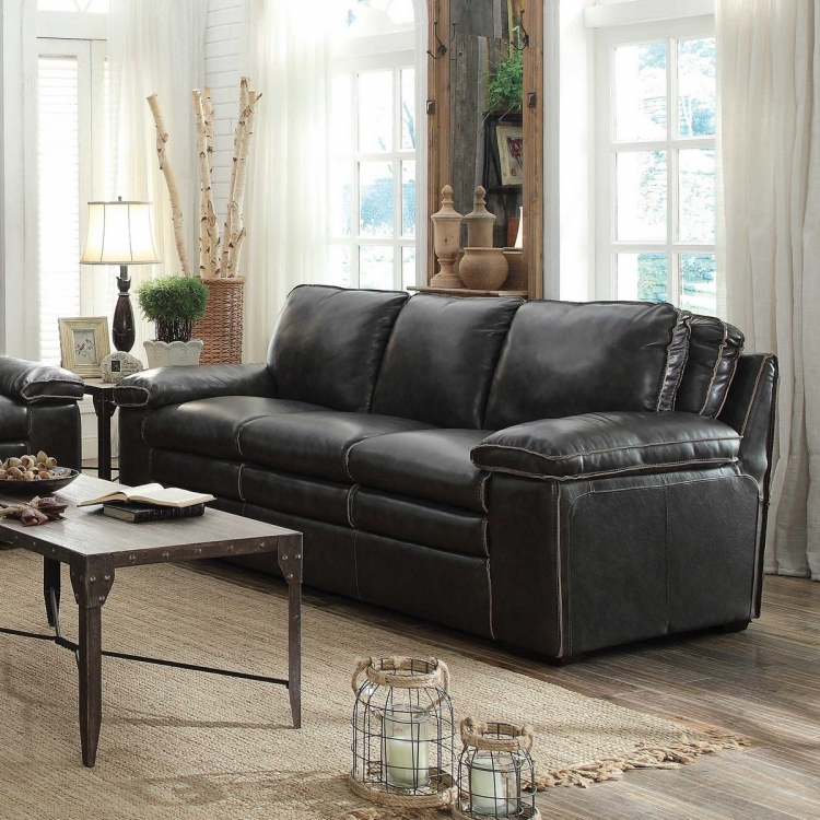 Regalvale Sofa - Two-tone Charcoal