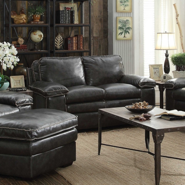 Regalvale Love Seat - Two-tone Charcoal