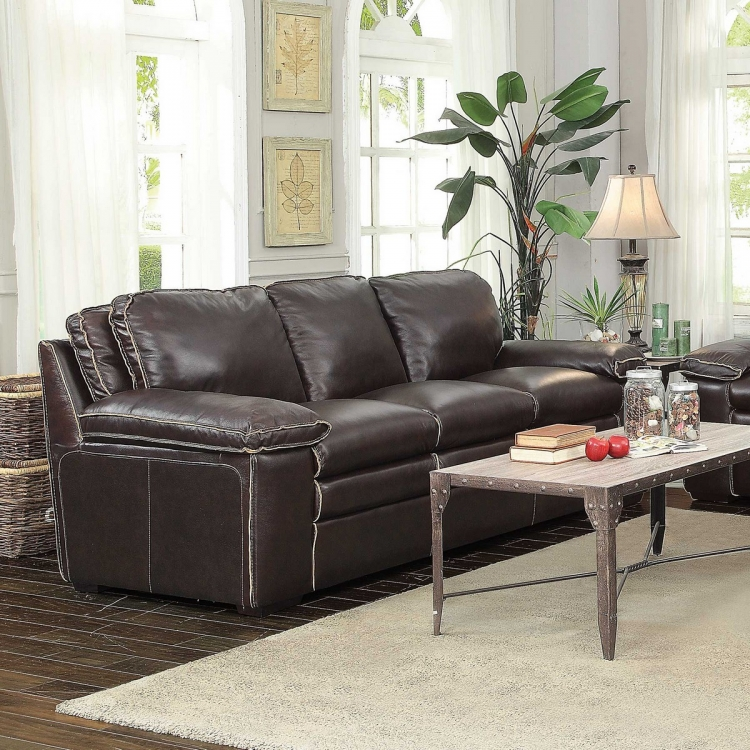 Regalvale Sofa - Two-tone Brown