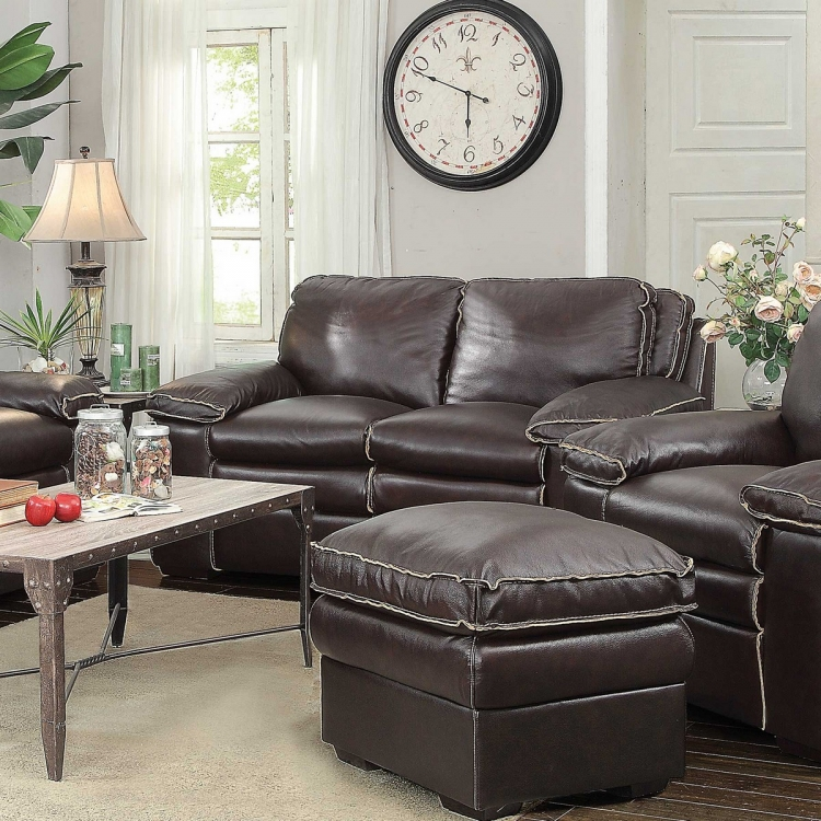 Regalvale Love Seat - Two-tone Brown