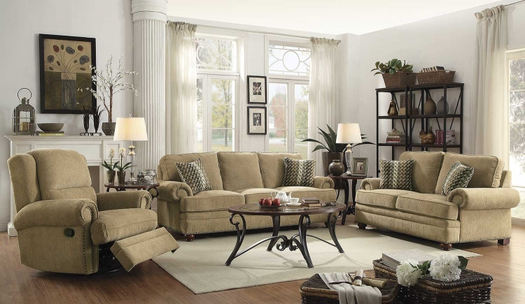 Colton Sofa Set - Wheat