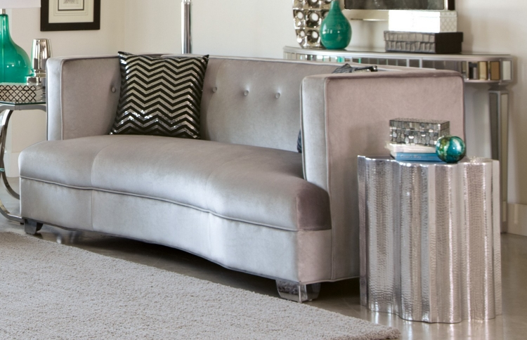 Caldwell Love Seat - Silver
