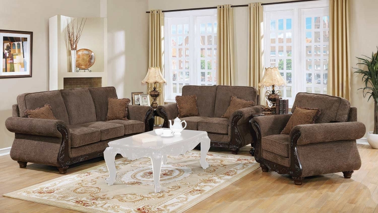 Phaedra Sofa Set - Light Brown