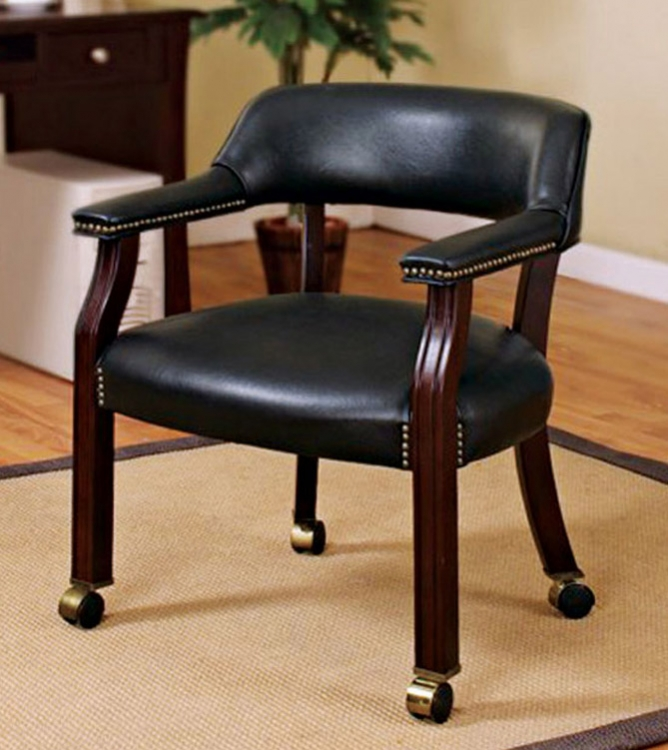 515X Office Chair - Black Vinyl - Coaster