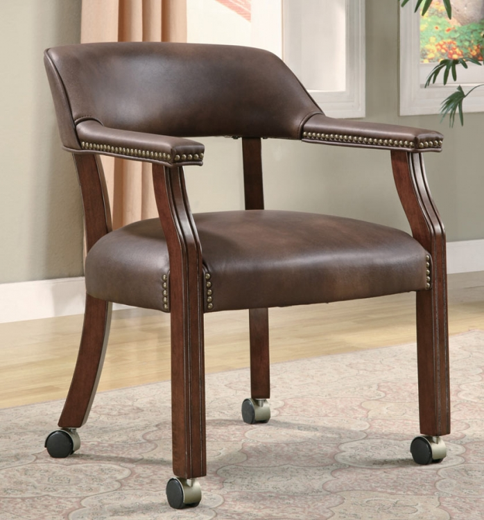 517BRN Office Chair - Brown Vinyl - Coaster