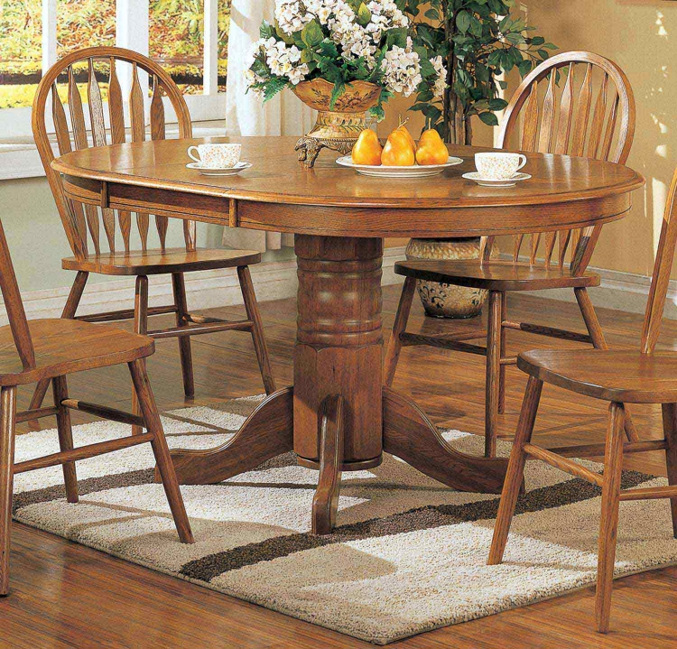 Mackinaw 5264N Oval Dining Table - Warm Oak
