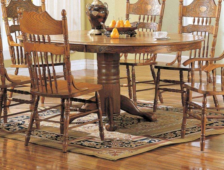 Mackinaw 5279N Oval Dining Table - Warm Oak