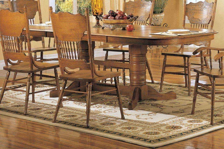 Mackinaw 5396N Rectangular Dining Table - Warm Oak