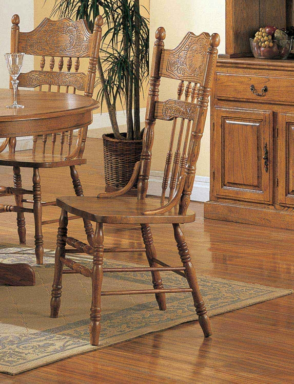Mackinaw 5476AN Side Chair - Warm Oak